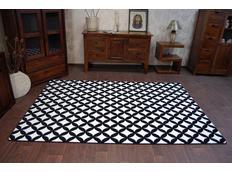 Moderní koberec černo-bílý F757