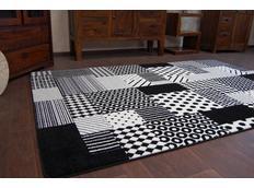 Moderní koberec černo-bílý F760