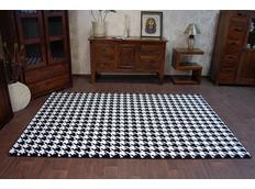 Moderní koberec černo-bílý F763