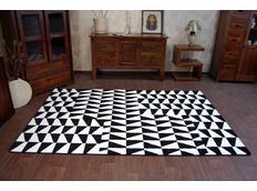 Moderní koberec černo-bílý F765