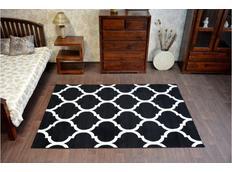 Moderní koberec PLETIVO černo-bílý