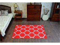 Moderní koberec PLETIVO červený