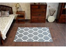 Moderní koberec PLETIVO šedý