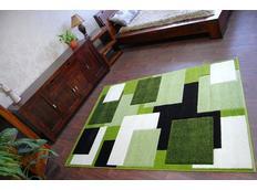 Moderní koberec ZELENÝ H202-8404