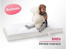 Dětská matrace BABY - 130x70 cm - pohanka / molitan / kokos