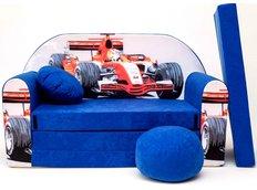 Dětská pohovka Formule - modrá