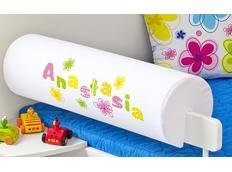 Chránič na dětskou postel SE JMÉNEM - vzor KVĚTINY