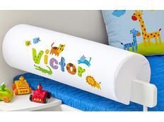 Chránič na dětskou postel SE JMÉNEM - vzor SAFARI