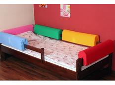 Chránič na dětskou postel - RŮŽOVÝ