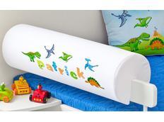 Chránič na dětskou postel SE JMÉNEM - DINOSAUŘI