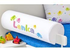 Chránič na dětskou postel SE JMÉNEM - vzor SLONI