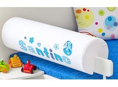 Chránič na dětskou postel SE JMÉNEM - vzor BABY BLUE