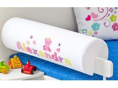 Chránič na dětskou postel SE JMÉNEM - vzor BABY PINK