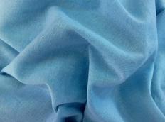 Bavlněné prostěradlo do postele 160x80 cm - SVĚTLE MODRÉ