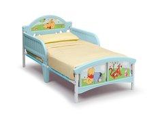 Dětská plastová postel Disney - MEDVÍDEK PÚ 140x70 cm