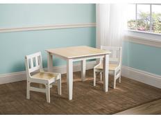 Dřevěný dětský stůl s židličkami - natural