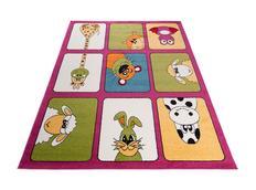 Dětský koberec ANIMALS - růžový