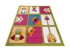 Dětský koberec ANIMALS - zelený