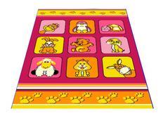 Dětský koberec KLUBÍK - růžový