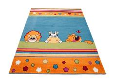 Dětský koberec ZVÍŘÁTKA - modrý