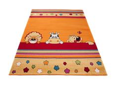 Dětský koberec ZVÍŘÁTKA - oranžový