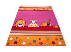 Dětský koberec ZVÍŘÁTKA - růžový