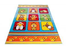Dětský koberec KLUBÍK - modrý