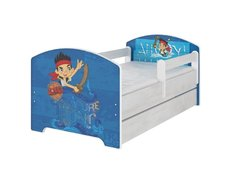 Dětská postel Disney - JAKE A PIRÁTI 140x70 cm