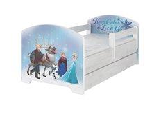 Dětská postel Disney - LEDOVÉ KRÁLOVSTVÍ 140x70 cm