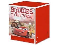 Dětský noční stolek Disney - CARS červený
