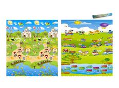 Dětská pěnová podložka na hraní 180x200 cm - oboustranná - vzor 6