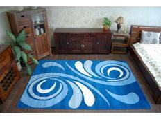 Moderní koberec MODRÝ 8695