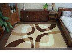 Moderní koberec SVĚTLE-BÉŽOVÝ F242