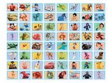Dětská 3D tapeta Disney KOLÁŽ - modrá