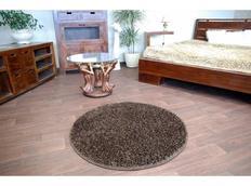 Kulatý koberec SHAGGY CARNIVAL – hnědý