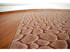 Kusový koberec PEBBLE BROWN