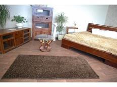 Kusový koberec SHAGGY CARNIVAL – hnědý