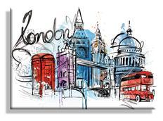 Obraz na plátně LONDÝN - vzor 56