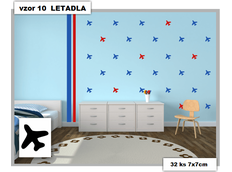 Samolepky DECOR COLOR vzor 10 - LETADLA