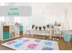 Dětský koberec Soft - SLONI