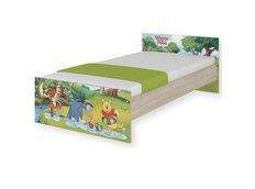 Dětská postel MAX Disney - MEDVÍDEK PÚ II 160x80 cm - BEZ ŠUPLÍKU