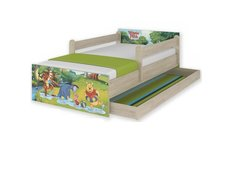 Dětská postel MAX Disney - MEDVÍDEK PÚ II 160x80 cm - SE ŠUPLÍKEM