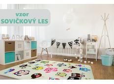 Dětský koberec Soft - SOVIČKOVÝ LES