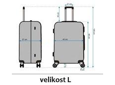 Moderní cestovní kufry - rozměry vel.L