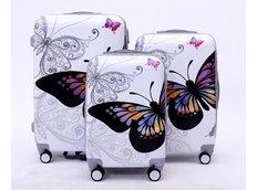 Moderní cestovní kufry BUTTERFLY