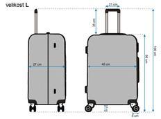Moderní cestovní kufry DIAMOND - rozměry vel. L