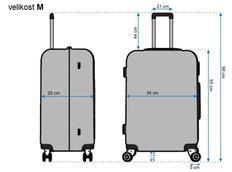 Moderní cestovní kufry DIAMOND - rozměry vel. M