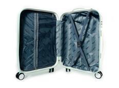Moderní cestovní kufry DIAMOND - bílé