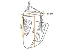 Závěsné houpací křeslo - rozměry