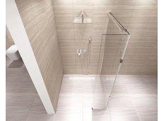 Koupelnová pevná zástěna AERO PLUS 110 cm